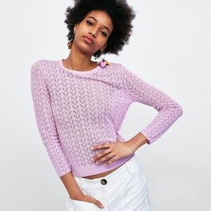 Zara Lace Effect Sweater